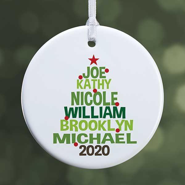 personalized family tree christmas ornaments personalized family tree ornament for christmas