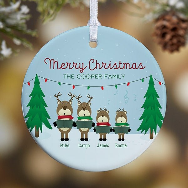 personalized reindeer family christmas ornaments 18063