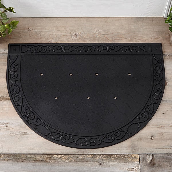 Half Round Doormat Recycled Rubber Tray - 18086