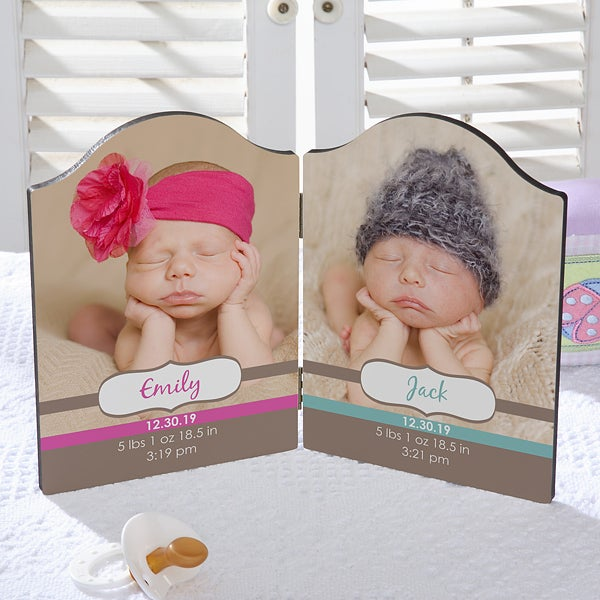 Personalized Photo Plaque for Twins - 18105