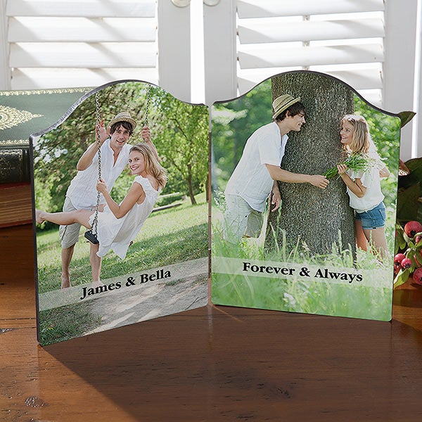 Personalized Photo Plaque with Romantic Message - 18108