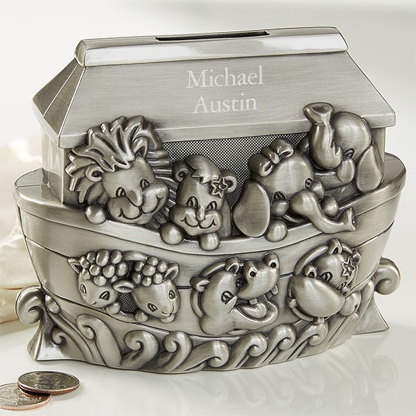 Personalized Piggy Bank - Noah's Ark - 18114
