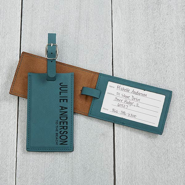 Bold Style Personalized Leather Luggage Tags - 18119