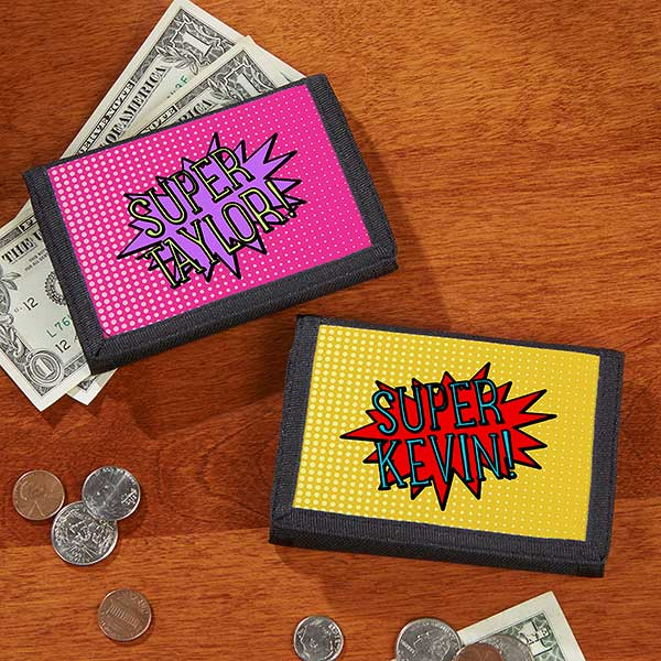 Personalized Wallets For Kids - Super Hero - 18124
