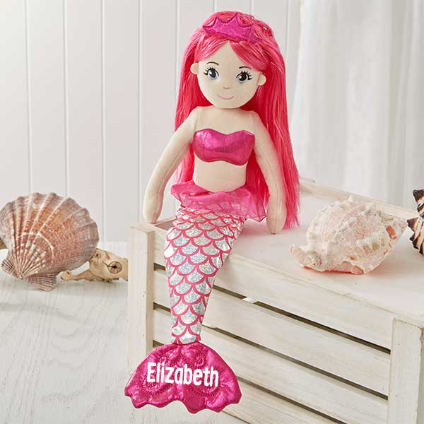 Personalized Sea Sparkles Mermaid Doll - 18128