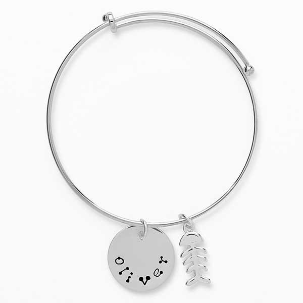 Personalized Pet Name Bangle Bracelet - 18151D