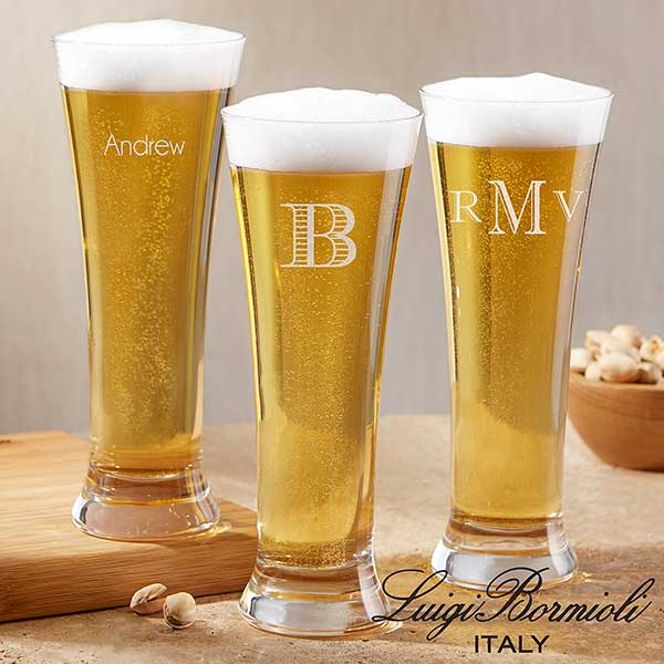 Personalized Pilsner Beer Glasses - Luigi Bormioli - 18157