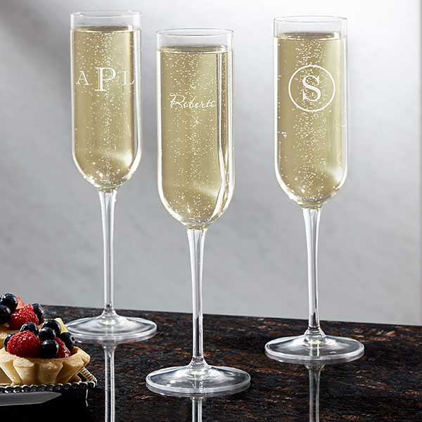 Personalized Champagne Flute Name
