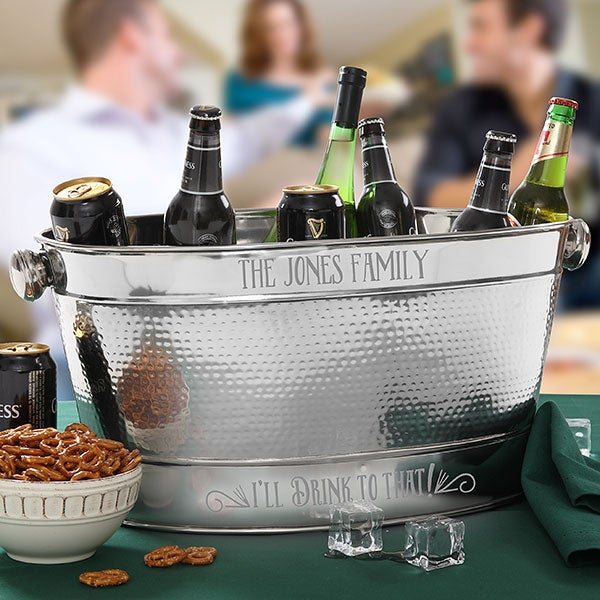 Personalized Beverage Tub - I'll Drink To That - 18197