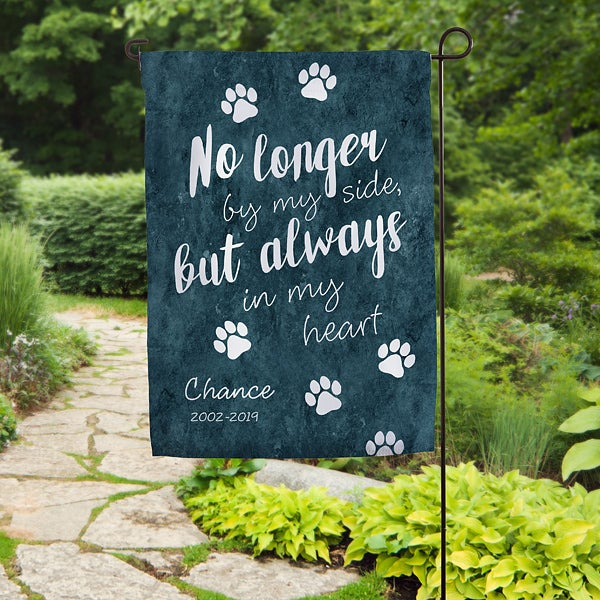 Paw Prints On My Heart Personalized Garden Flag