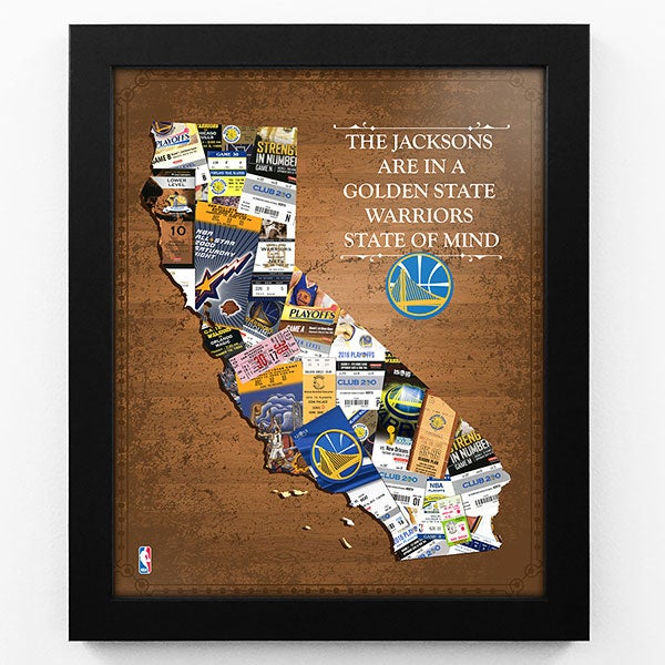 Personalized NBA Art - Framed Sports Prints - 18239D