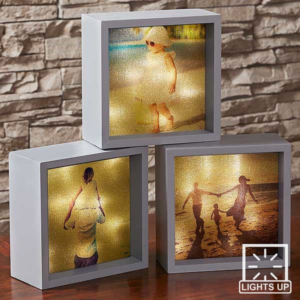 Personalized Photo LED Light Shadow Box - 18241