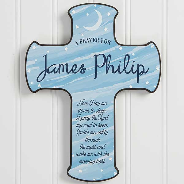 Children's Bedtime Prayer - Personalized Cross - 18245