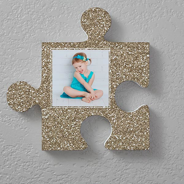 Personalized Photo Puzzle Piece Wall Decor Textures
