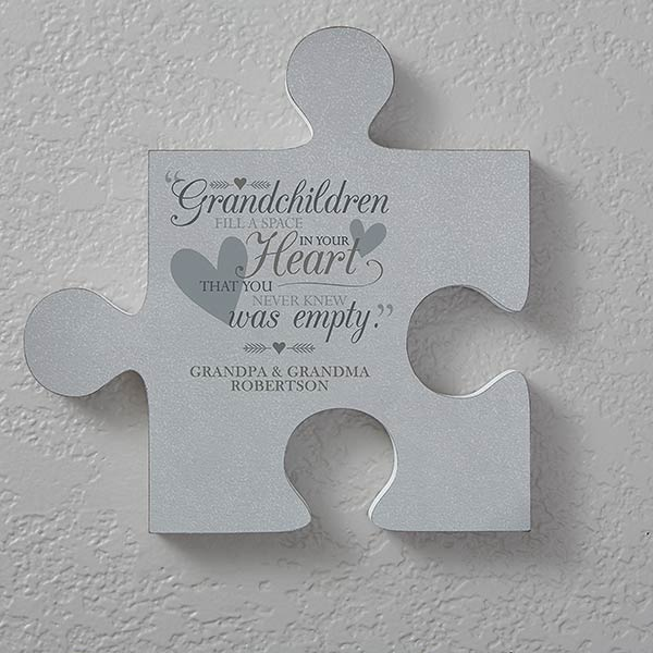 Personalized Puzzle Piece Wall Decor Grandparents