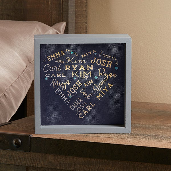 Close To Her Heart 6x6 Custom Led Light Shadow Box For Her