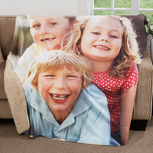 Personalized Photo Blanket - Picture Perfect Sherpa Blanket - 18281