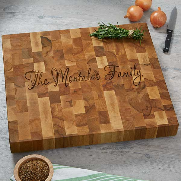 Custom Engraved Butcher Block Cutting Boards 18335