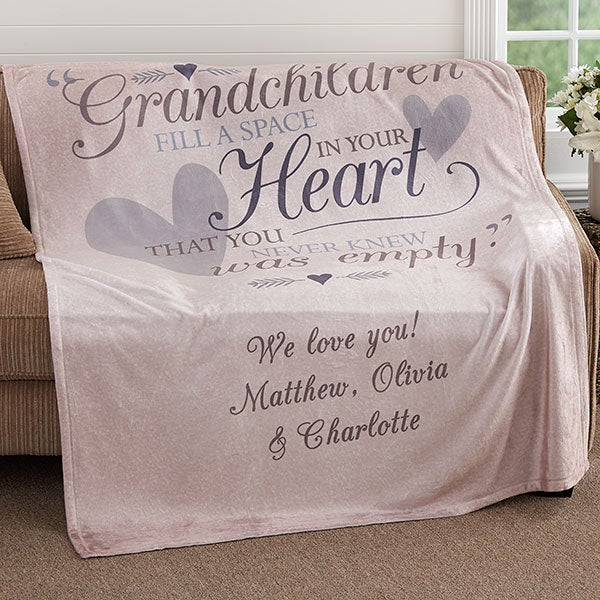 Personalized 50x60 Fleece Blanket For Grandparents