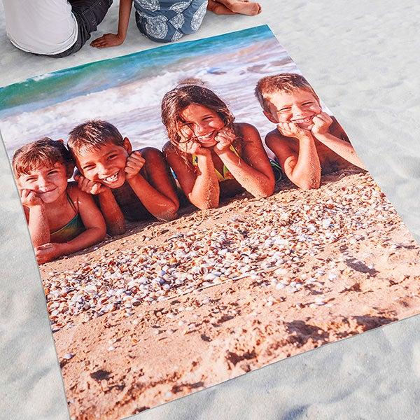 Personalized Photo Beach Blanket - 18364