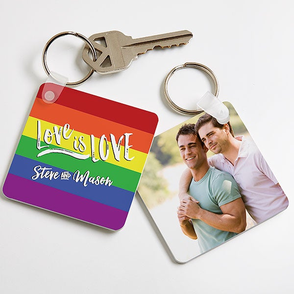 Love Is Love Personalized Photo Keychain - 18370
