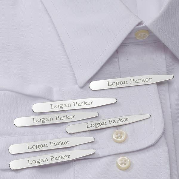 Monogrammed Collar Stays - Set of 3 - 18373