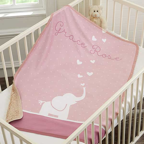 Personalized Sherpa Baby Blanket - Baby Zoo Animals - 18408