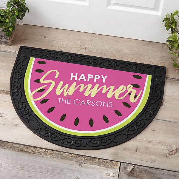 Personalized Half Round Doormat - Simply Summer - 18447