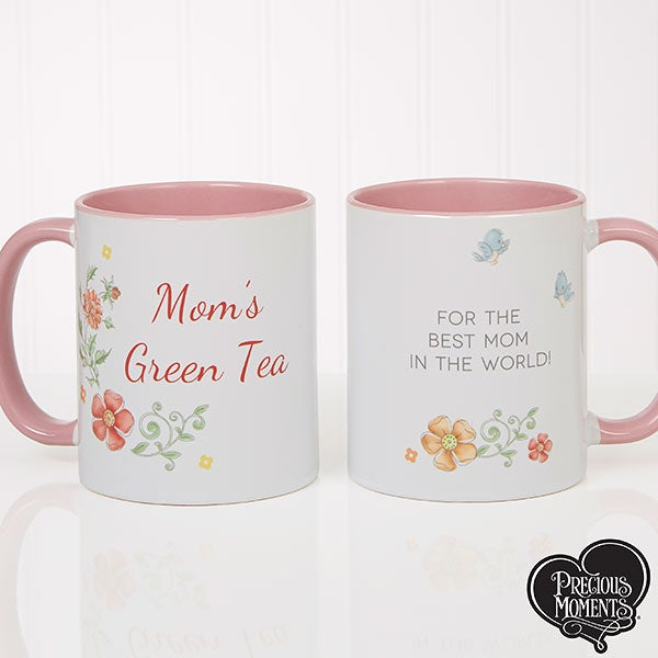 Personalized Coffee Mugs - Precious Moments Flowers - 18471
