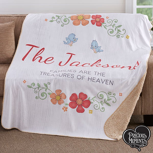 Precious Moments Personalized Sherpa Blankets - 18474