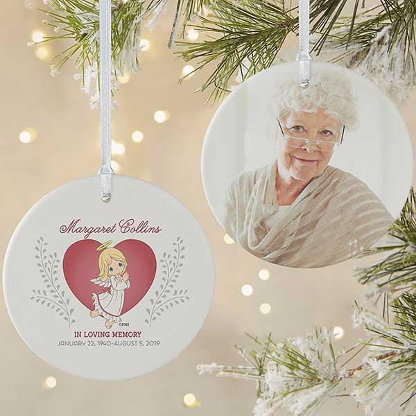 Memorial Christmas Ornaments.Personalized Precious Moments Memorial Photo Ornament