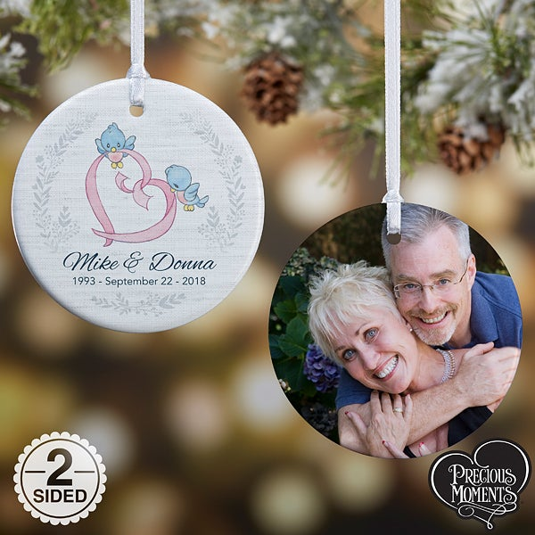 Personalized Anniversary Christmas Ornament - Precious Moments - 18481