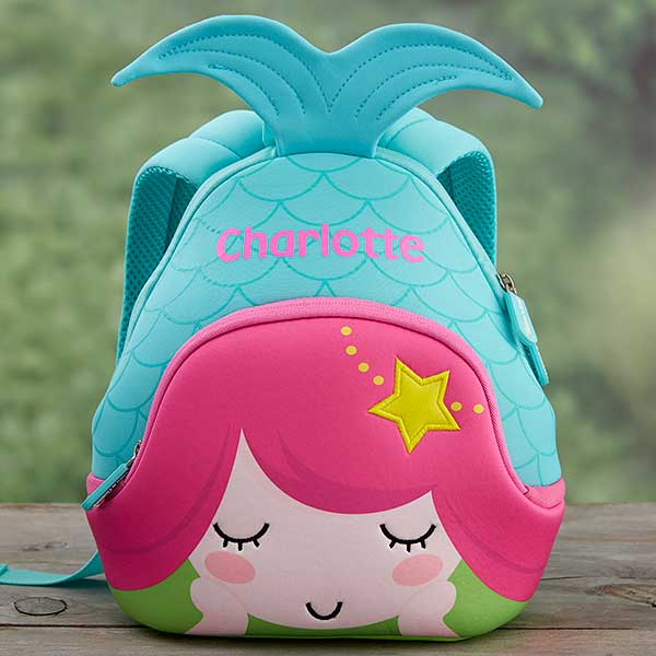 4f612bcfc72 Mermaid Personalized Neoprene Mini Toddler Backpack