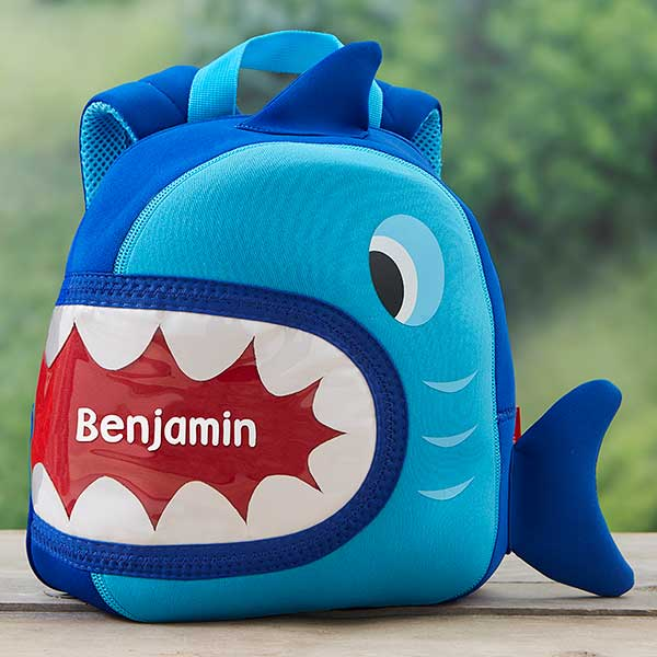 great variety models moderate cost 100% quality Shark Personalized Neoprene Mini Toddler Backpack