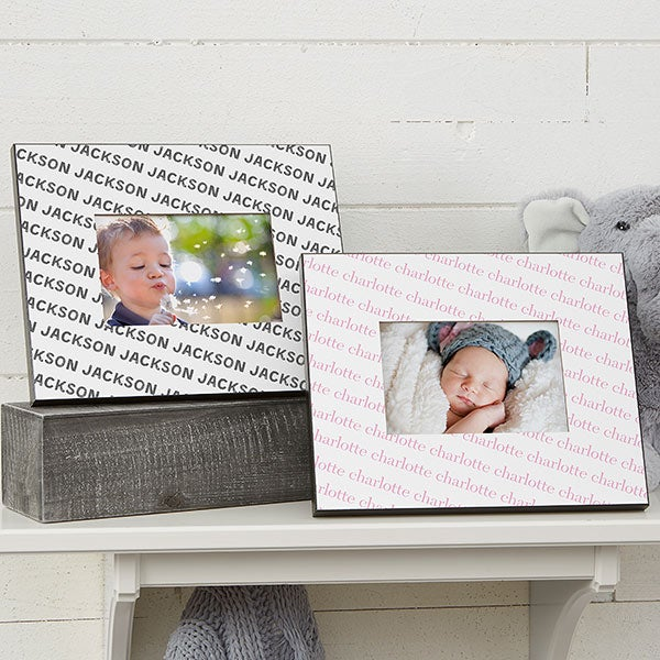 Personalized Baby Frame - Repeating Baby Name