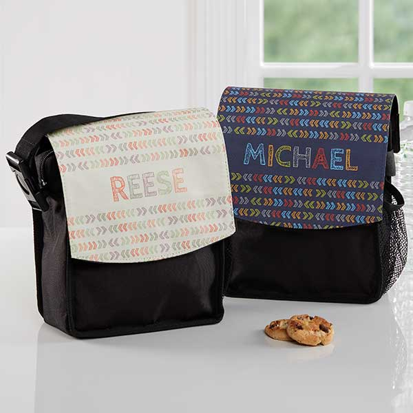 Personalized Lunch Bags Stencil Name