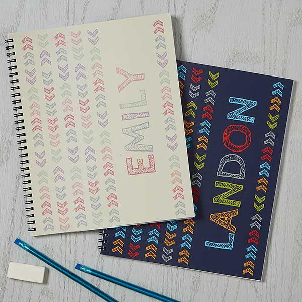 Personalized Notebooks - Stencil Name - 18511