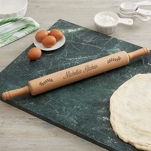 Personalized Rolling Pin - Beechwood  - 18536