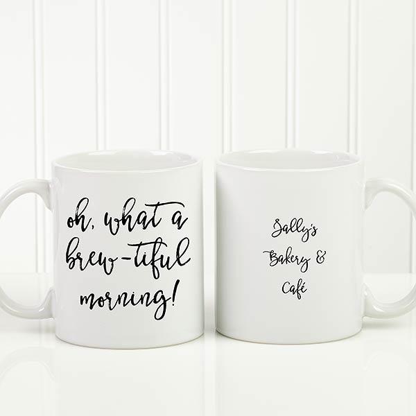Personalized 11oz White Coffee Mug Add Any Text