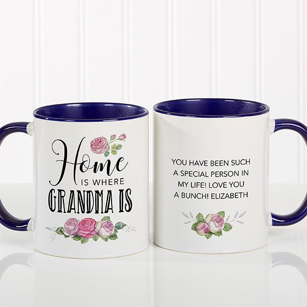 Home Is Where Mom Is - Personalized Coffee Mug - 18548