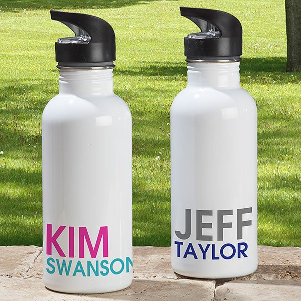 Personalized Water Bottles - Add Any Name - 18555