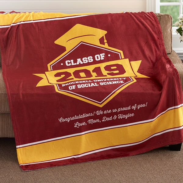 Personalized Graduation Blankets - Graduation Gift - 18577