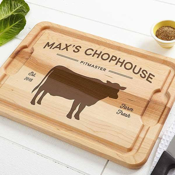 Personalized Maple Cutting Boards - Farmhouse Kitchen - 18598