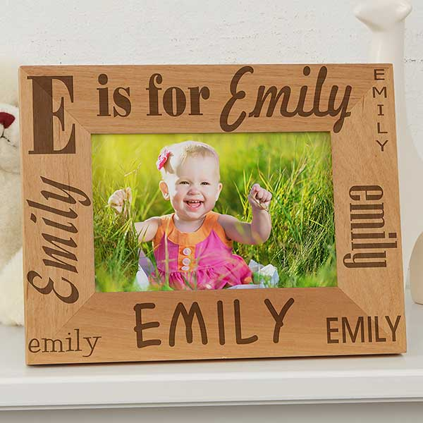 Alphabet Name Personalized Kids Picture Frames