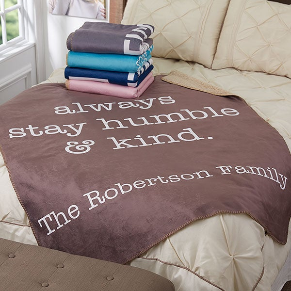 Personalized Sherpa Blankets - Home Expressions - 18622