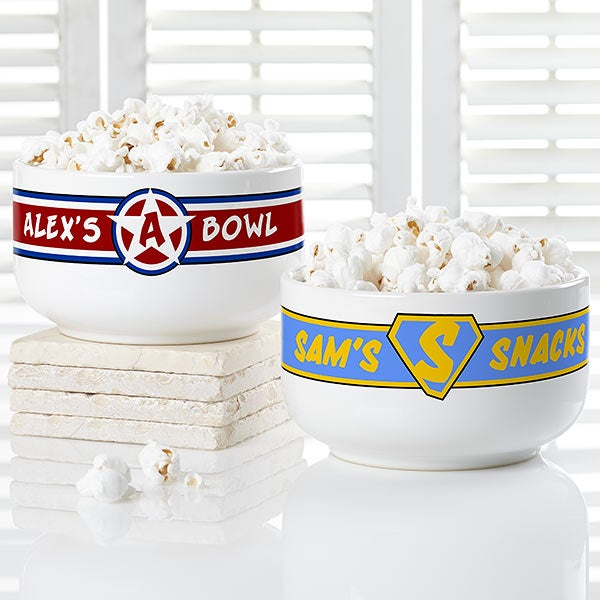Personalized Bowls - Super Hero Design - 18641