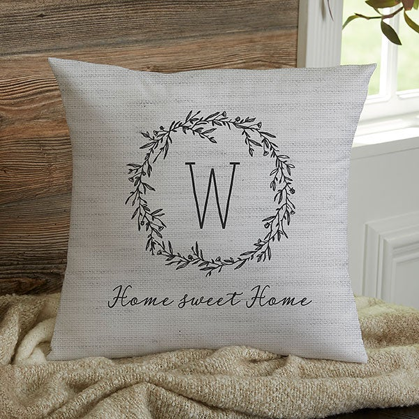 Personalized Throw Pillows - Farmhouse Floral - 18642