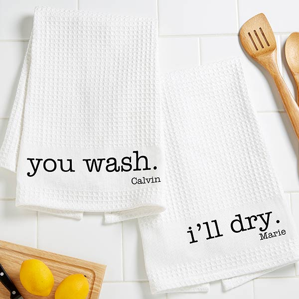 Kitchen Expressions Personalized Kitchen Towels - 18643