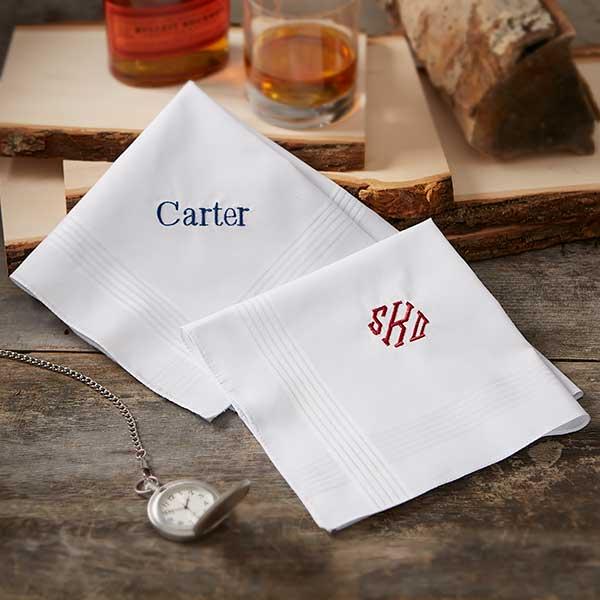 Custom Mens Embroidered Handkerchief - 18684