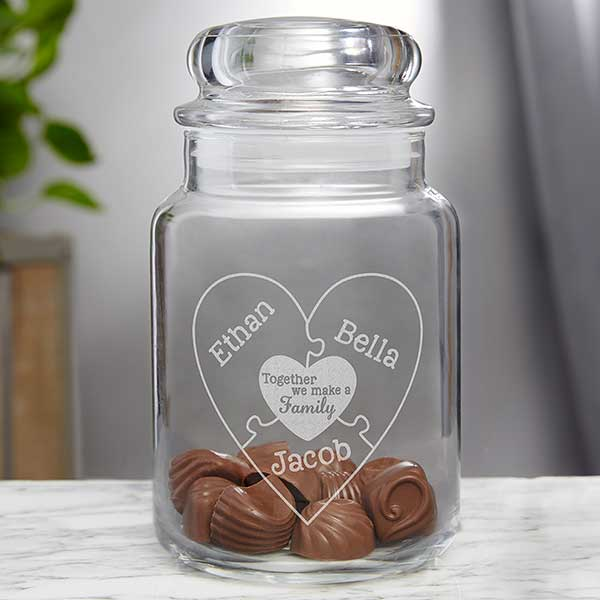 Personalized Glass Jar Together We Make A Family